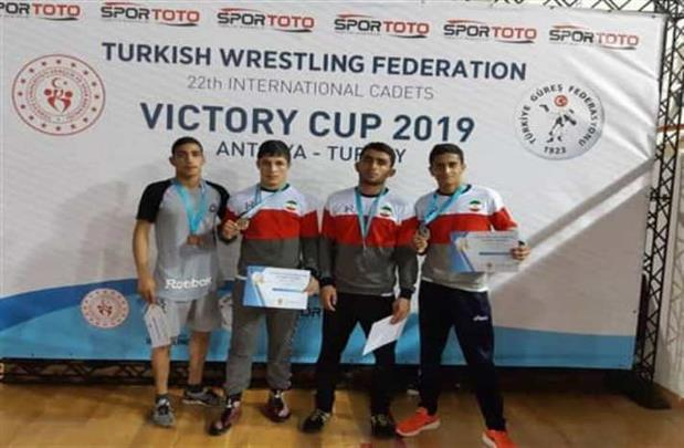 Iran wrestlers bag 9 medals in Turkey Victory Cup